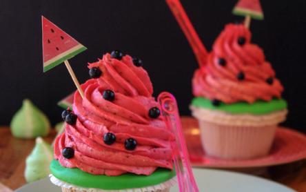 Dinnyés cupcake
