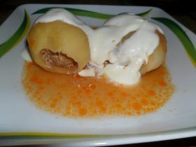 Paradicsomos töltött krumpli