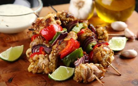 Mexikói csirkecomb nyárs