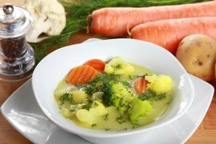 Tejszínes zöldséges burgonyaleves