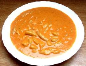 Tejszínes-csirkés zöldbab főzelék