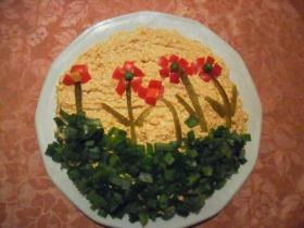 Virágmezős tojásos körözött