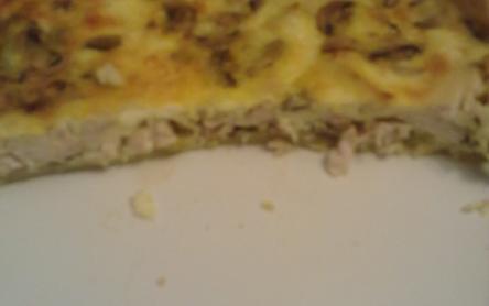 Gombás-csirkés quiche