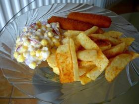 Lilahagymás kukoricasaláta