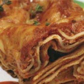 Zöldséges húsos Lasagne