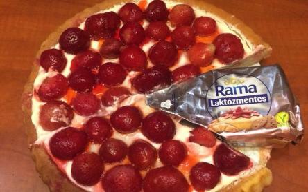 Laktózmentes gyümölcstorta