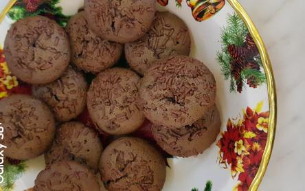 Laktózmentes csokis túró rudis muffin