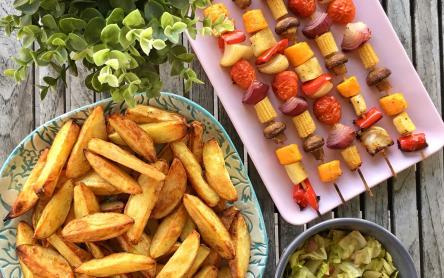 Vegán saslik sült krumplival - Garádi Zsofka konyhájából