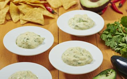 Jalapeno-s, avokádós majonéz dip
