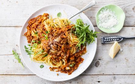 Lencse Bolognai spagetti