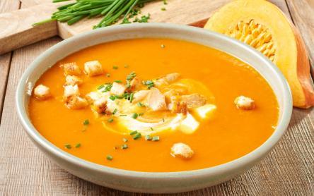 Currys sütőtök leves
