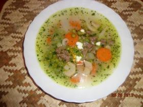 Borjúbecsinált leves