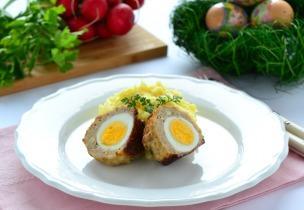 Húsvéti fasírtgolyók tojással