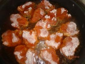 Krumplin sült libamájas szűzérme