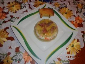 Franciasaláta sertéskocsonyában