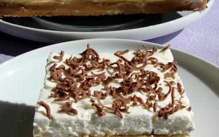 Pudingos-kekszes-tejszínhabos szelet