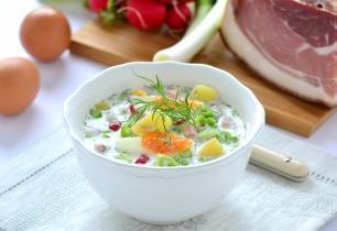Hideg orosz zöldségleves (Okroshka)