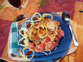 Bolognai húsos rakott spagetti