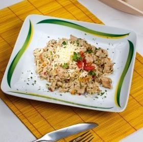 Tepsiben sült rizses csirke