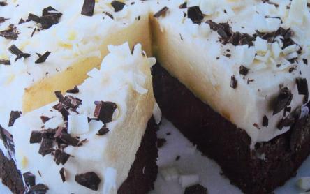 Fekete-fehér csokitorta