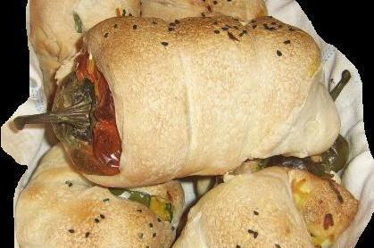 Töltött paprika kenyértésztában
