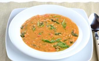 Indiai joghurtos vöröslencse leves