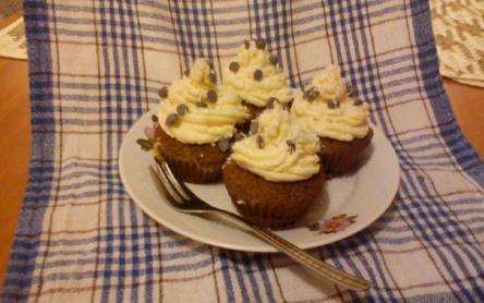 Csokis-kókuszos cupcake