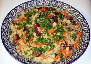 Plov (Üzbég rizses húsos egytálétel)