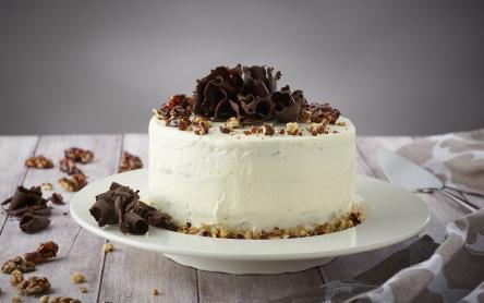 Csokis-karamellás diótorta