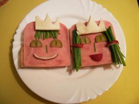 Királyfi és királylány szendvics