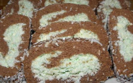 Kókuszos-mandulás keksztekercs