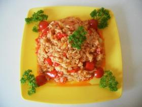 Babos-rizses lecsó