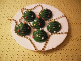 Mini karácsonyfa süti