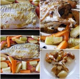 Grillezett hal zöldségekkel