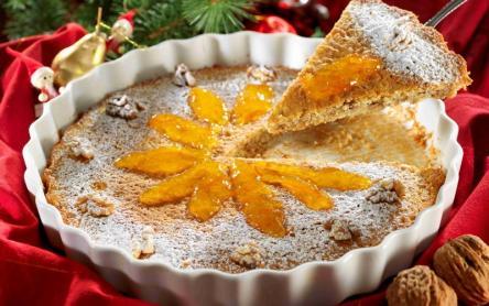 Tejfölös-diós torta