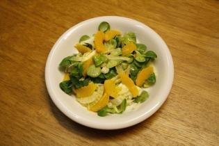 Narancsos édeskömény saláta mézes citromos dresszingel