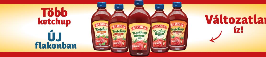 Több ketchup új flakonban