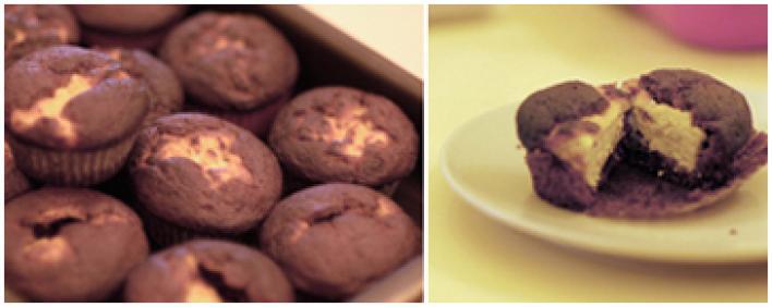 Búvár túrós muffin