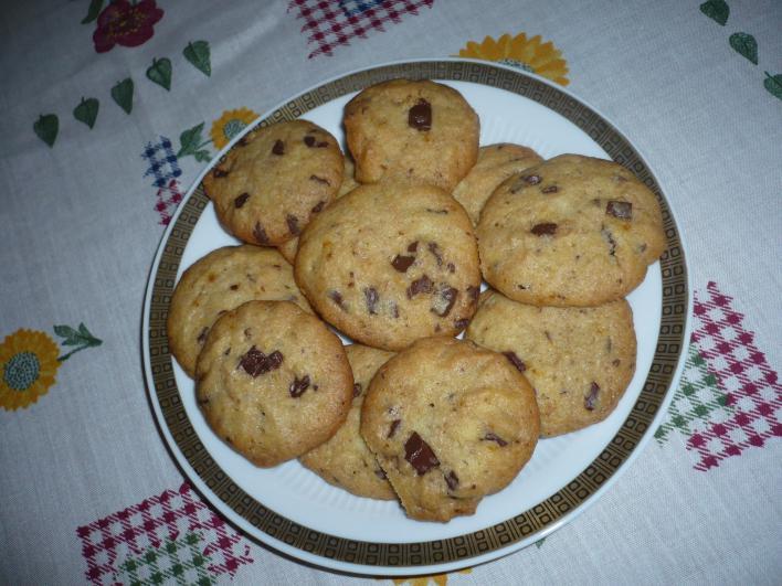 Csokis, narancsos cookie