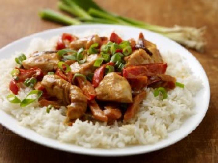Kínai csípős csirke újhagymával