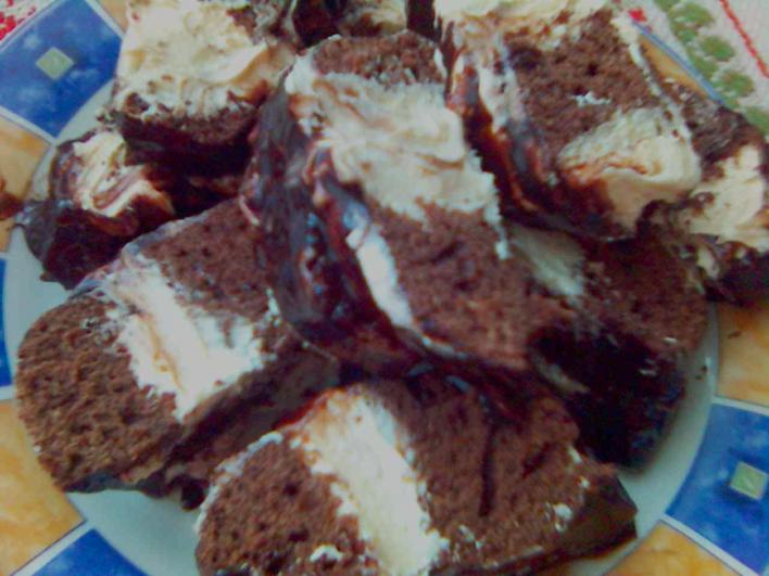 Krémes brownie