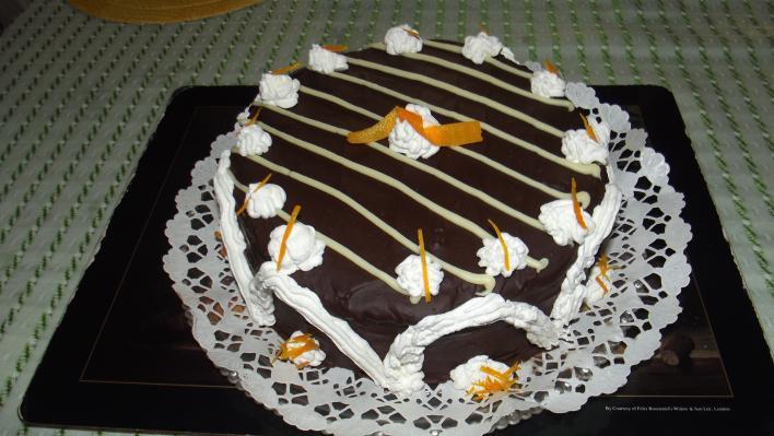 Narancsos csokoládétorta