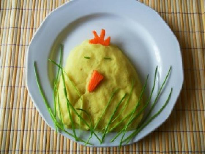 Csirke alakú krumplipüré