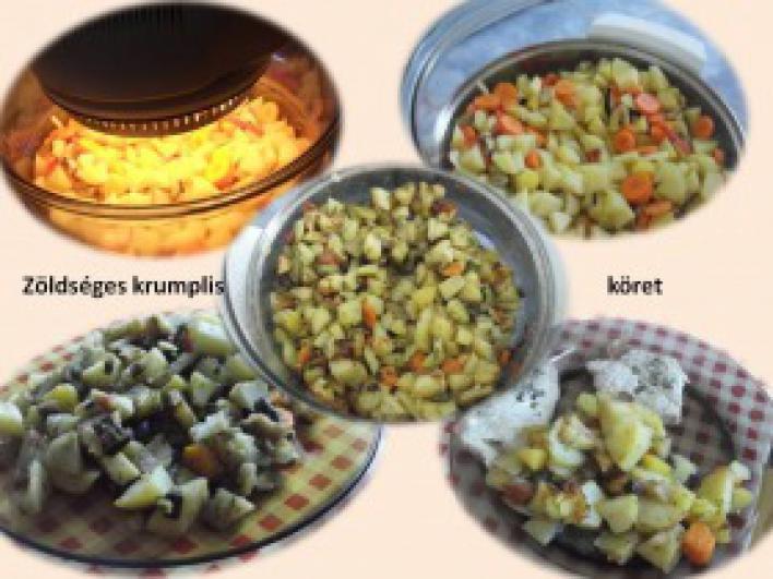 Zöldséges krumplis köret