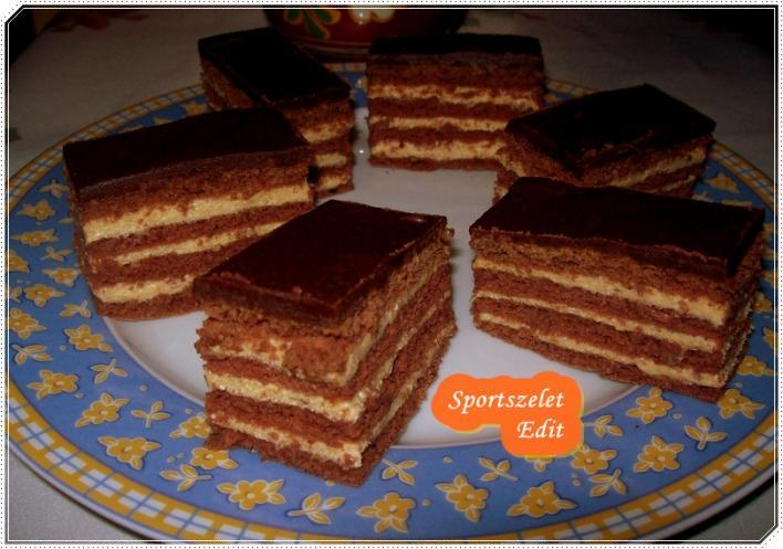 Krémes rumos-csokis szelet