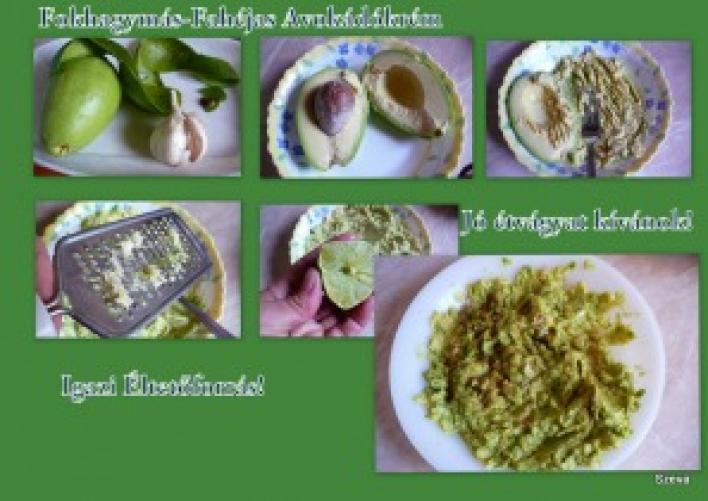 Fahéjas-fokhagymás avokádókrém