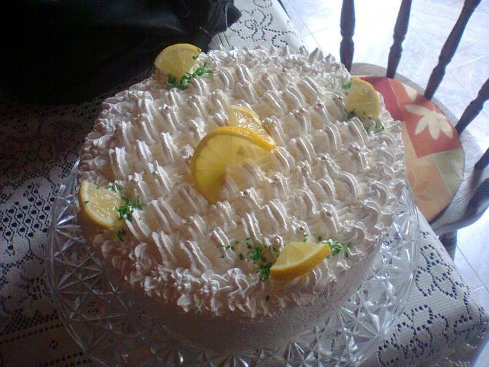 Tejszínes, túrós citromtorta
