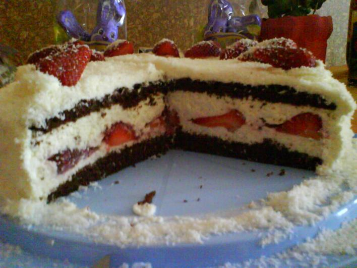 Epres-kókuszos torta