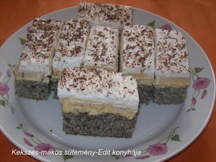 Kekszes-mákos sütemény