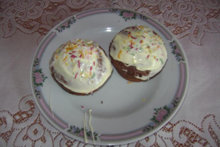 Fehércsokis muffin